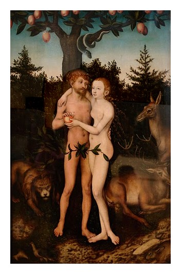 30 CRanach Adam Eve Pushkin