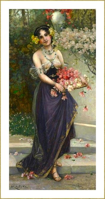 avec des fleurs *