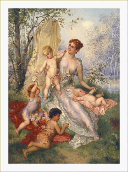 Mère et enfants. *