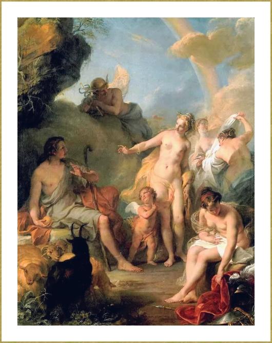 Le jugement de Paris (Noel-Nicolas Coypel) *