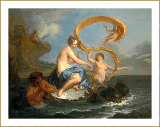 le triomphe de Galathée (Noël-Nicolas Coypel) *