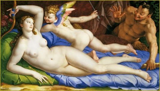 Vénus et Satyre