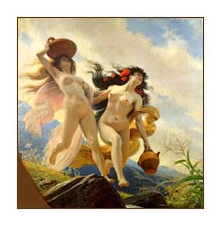L'ariège et la Garonne (décor sur plafond)