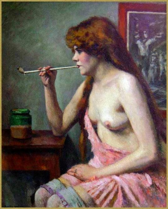 Femme àla pipe *