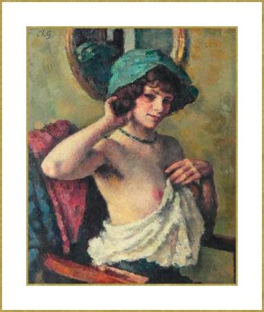 Femme au chapeau vert