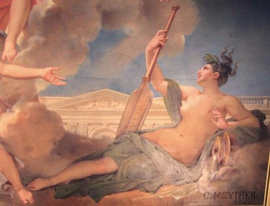 Les nymphes du Parthénope emportant leurs pénates sur les bords de la Seine / Détail