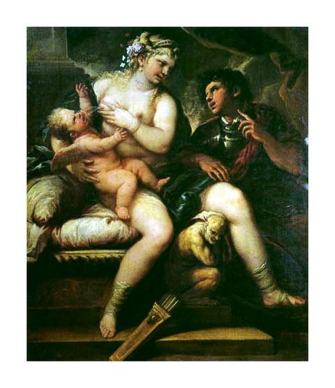Vénus Cupidon et Mars