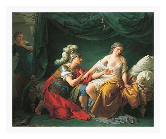 Alcibiade aux genoux de sa maitresse