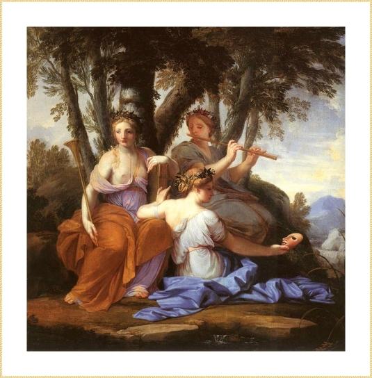 24 le sueur Muses- Clio, Euterpe  Thalia