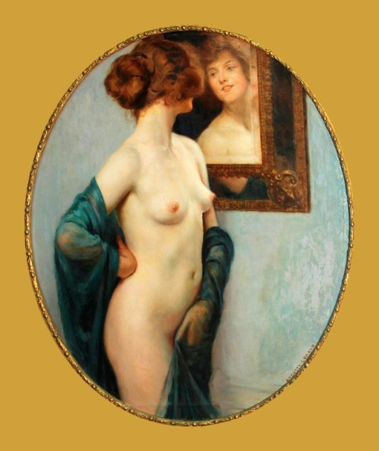 Devant le miroir