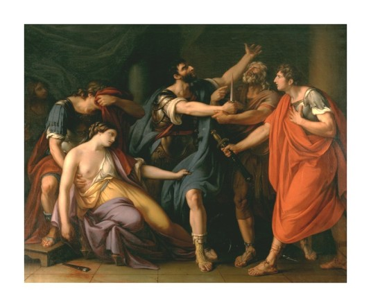 41 mort Lucrece 1765 Gavin Hamilton
