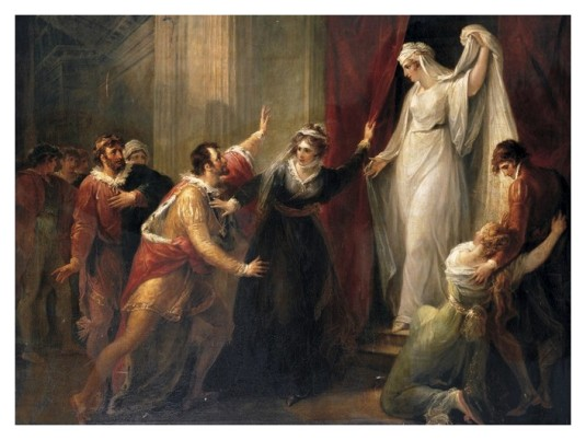 81 hamilton  LEANTE découvrant la statue de HERMIONE
