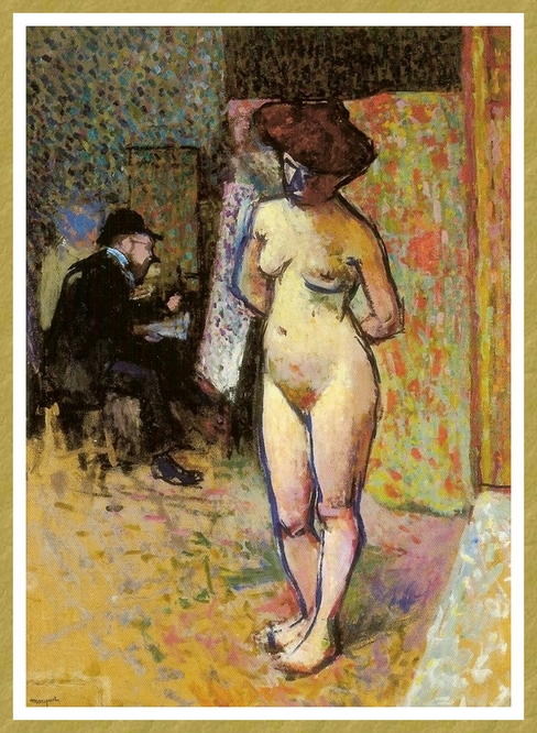 Modèle avec Matisse peignant