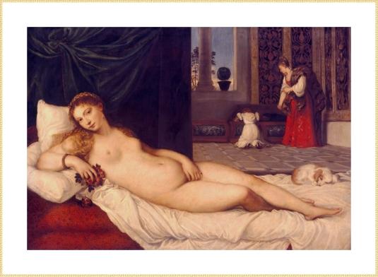 La Vénus d'Urbino, d'après celle par le Titien quelques siècles plus tôt