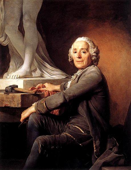 Allegrain travaillant sur cette statue (vers 1778)