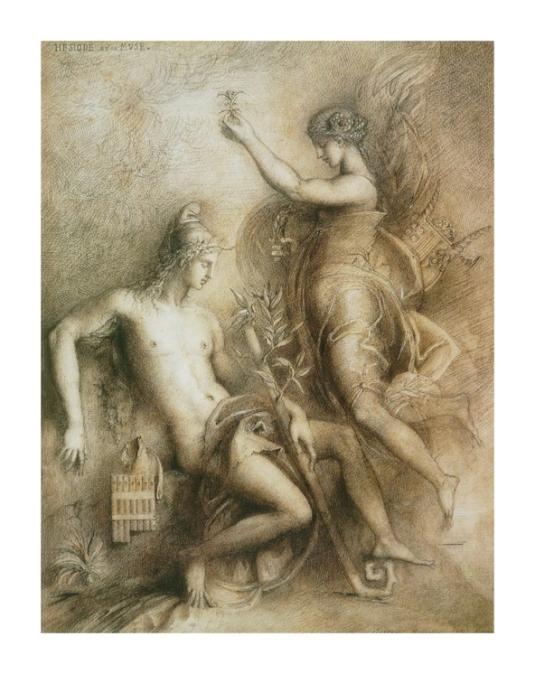 Hésiode et la Muse *