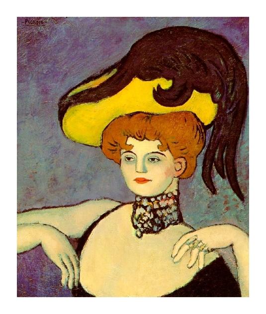 Femme avec un collier de perles *