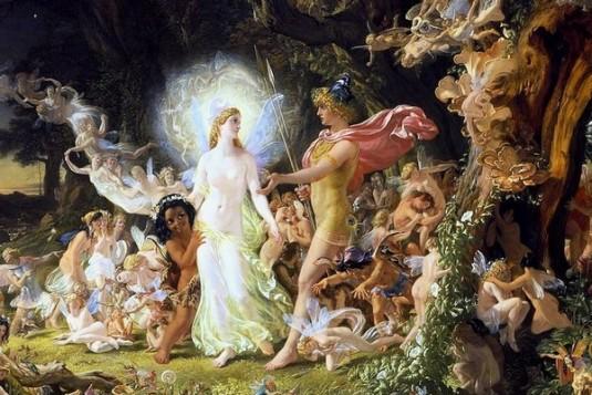 La  Querelle d' Oberon et Titania (détail)