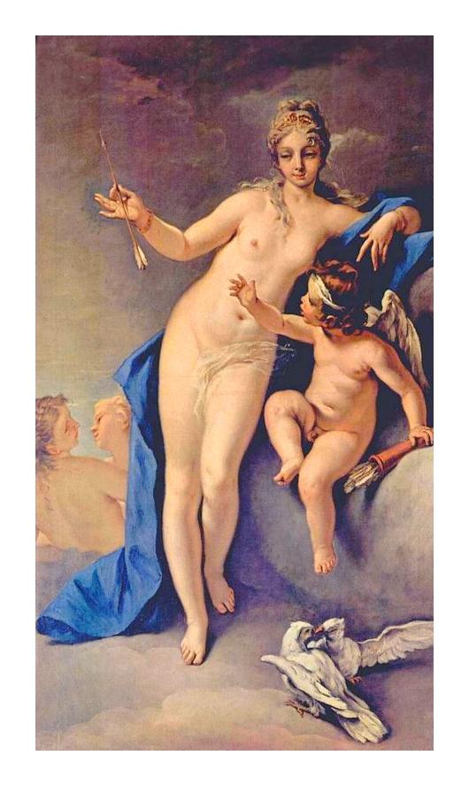Vénus et cupidon *