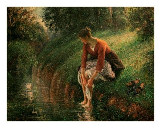 Jeune femme baignant ses pieds - 1 *