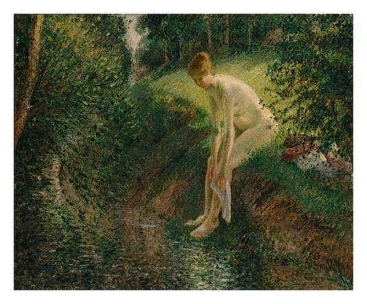 Jeune femme baignant ses pieds - 2  *