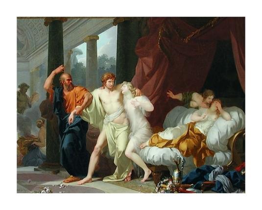 28 Socrate arrache Alcibiade du sein de la Volupté