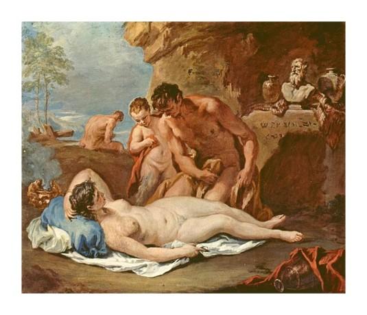 Nymphe et deux satyres *