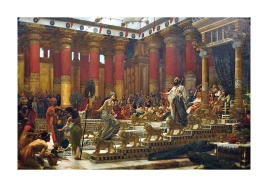 Salomon et la Reine de Saba. *