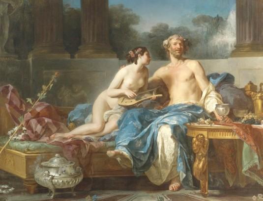 Les plaisirs d'Anacréon (détail)