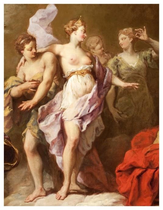 Vénus commandant des armes à Vulcain pour Enée (détail)