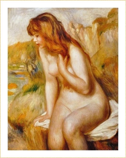33 baigneuse Pierre Auguste Renoir (6)