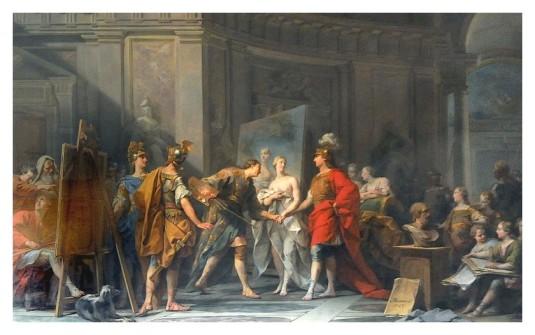 Alexandre offre sa maitresse au peintre Campaspe