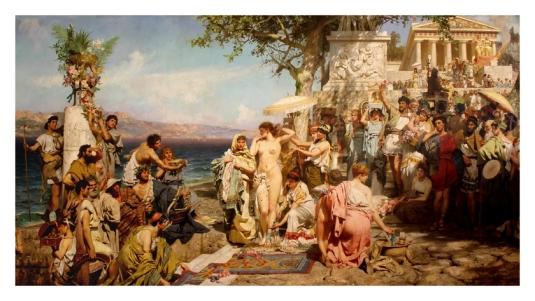 Phryne aux fêtes de Poseidon *