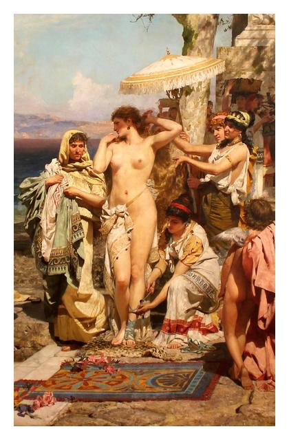 Phryne aux fêtes de Poseidon