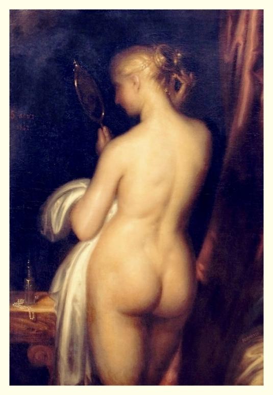 Jeune fille à sa toilette