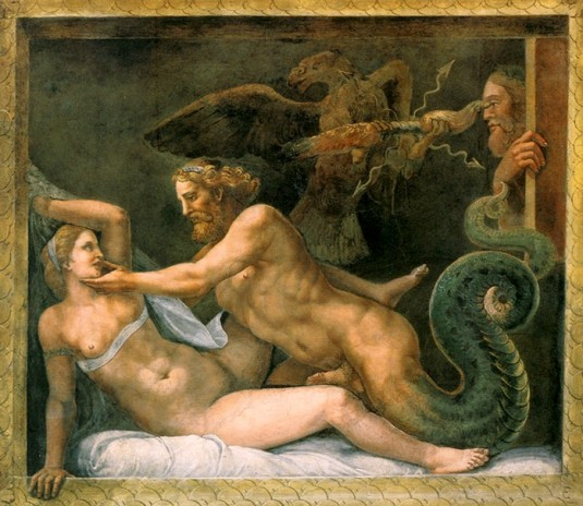 Jupiter séduisant Olympe *