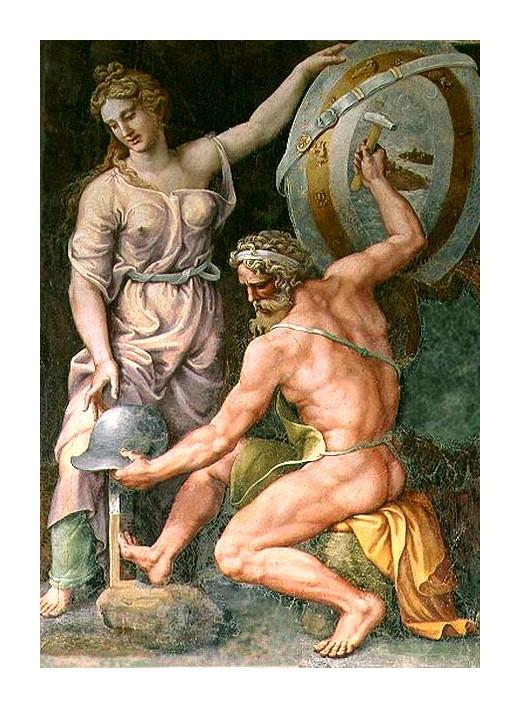 Vulcain forgeant l'armure d'Achille *