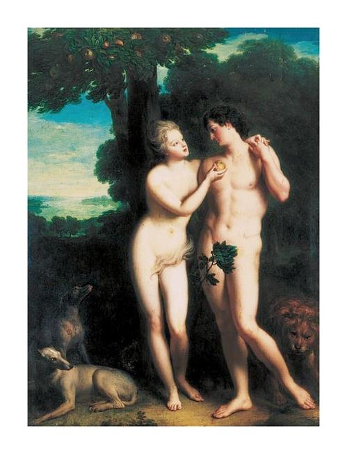 Adam et Eve - Philippe d'Orléans et Madeleine de de la Vieuville *
