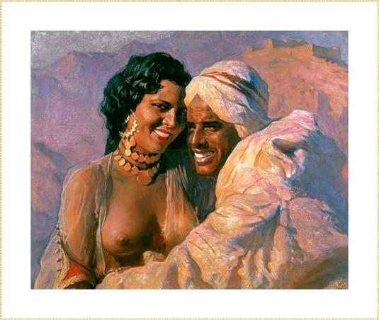 Couple amoureux au Maroc *