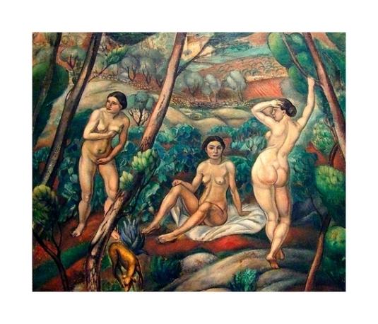3 femmes nues dans les bois *
