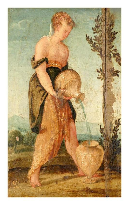 Femme versant de l'eau *