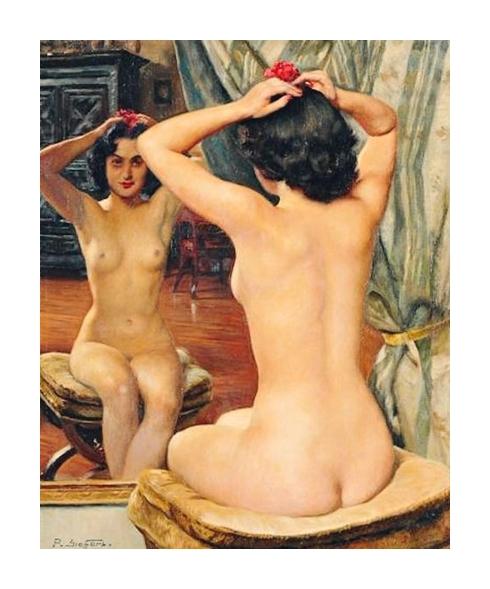 Dans son miroir *