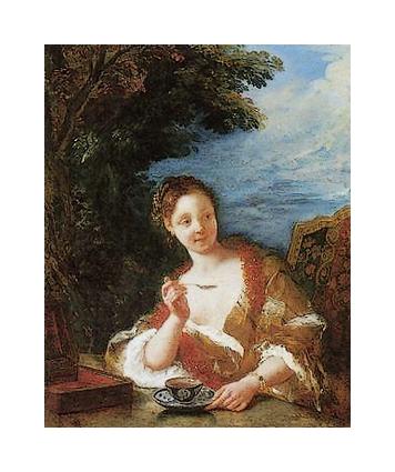 Jeune femme buvant un tasse de thé *