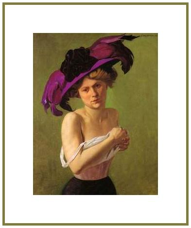 La dame au chapeau violet *