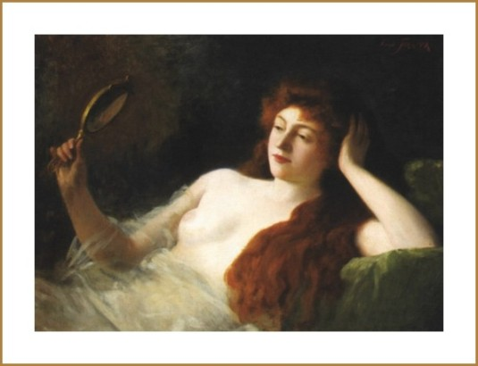 Femme au miroir *