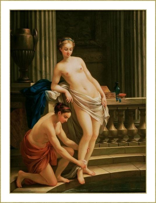 Jeune grecque au bain. *