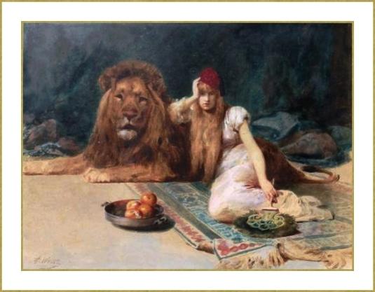 Odalisque et lion *
