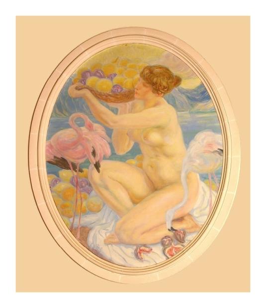 Femme et flamants roses *