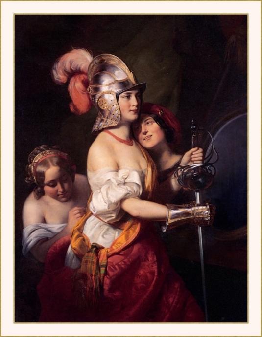 22 Friedrich_von_Amerling_-femme armure