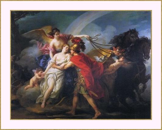 Vénus blessée par  Diomède sauvée par Isis